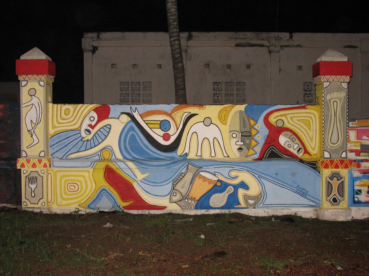Mur d'enceinte d'un centre d'art