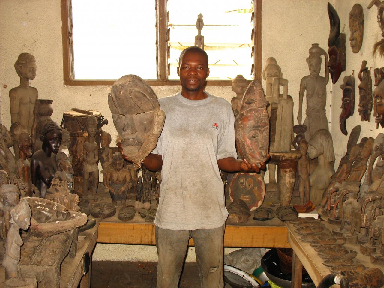 Chez un artiste sculpteur