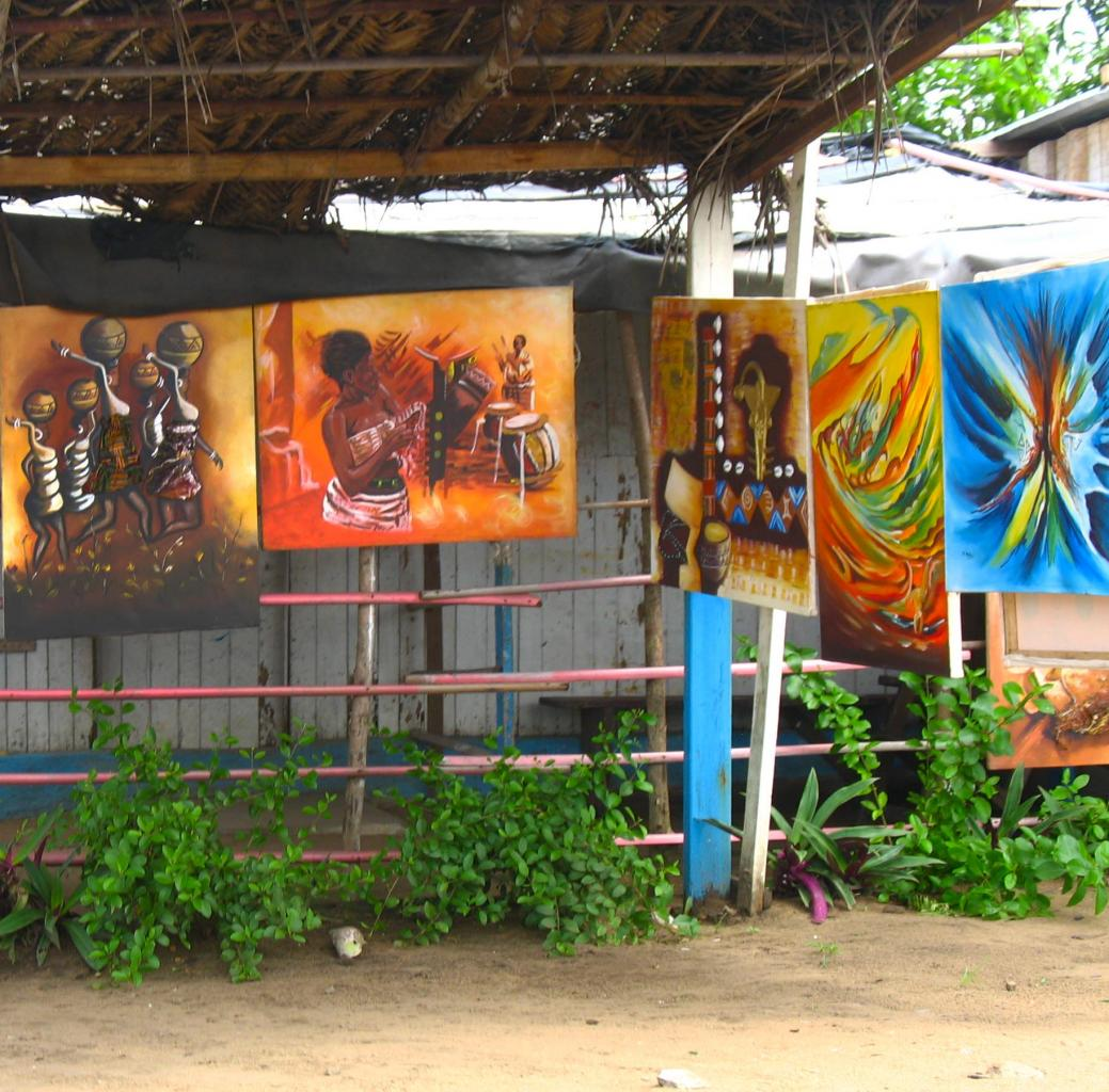 Stand de peintures