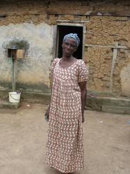 Une femme, forte, du village de Dogohiri